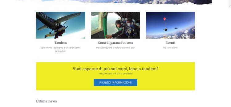 Nuovo sito Paracadutismo Belluno