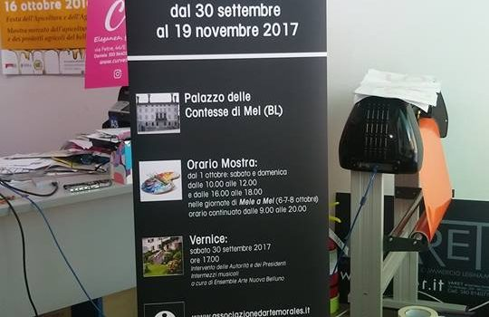 Espositore per mostra Circolo Mario Morales